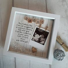 Daddy to Be Frame Fathers day Gift Scan Picture Frame Gift For New Daddy Present For Daddy Gift For Dad Personalised Fathers Day Gifts For Expecting Dads, Baby Gifts For Dad, 1st Fathers Day Gifts, Gifts For New Dads, Fathers Day Crafts, Baby Girl Gifts, Gifts For Kids, Daddy To Be Gifts, Personalised Fathers Day Gifts