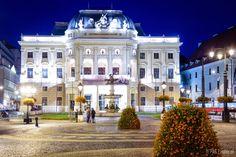 Slovak National Theatre Opera building in downtown of Bratislava, Slovakia's capital