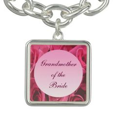 Rose Abstract Wedding Grandmother of the Bride Charm Bracelet