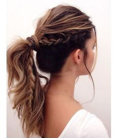 Occasional Half Braided Ponytail Hairstyles for Women
