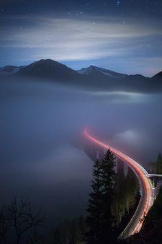 Foggy Night | Germany © Christian Ringer www.christianringer.photography