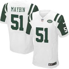 78.00--Aaron Maybin White Elite Jersey - Nike Stitched New York Jets  51  Jersey f293d7293