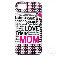 Mom is Love Mother's Day Gift Says it All iPhone 5 Cases - •Designed for the Apple iPhone 5 (AT, Verizon, and Sprint models). #mothersday #mom #iphone