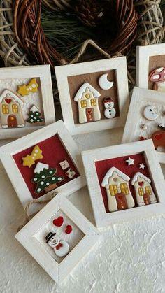 Una rassegna rappresentativa di creazioni artigianali e pezzi unici in ceramica, realizzati esclusivamente a mano. Christmas Makes, Noel Christmas, Christmas Crafts For Kids, Christmas Projects, Christmas Decorations, Christmas Ornaments, Diy Clay, Clay Crafts, Hobbies And Crafts