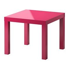 LACK Table d'appoint - brillant/rose - IKEA