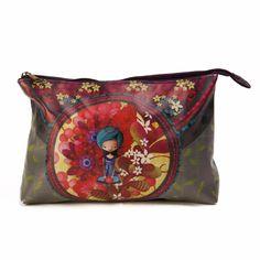 Trousse à cosmétique Ketto - Dame en bleu / Ketto cosmetic bag - Blue lady
