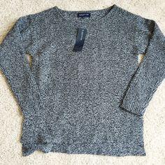 Jones New York Marled Sweater Cute and cozy marled grey sweater. Jones New York brand. NWT. Size small. Slightly longer in the back. Jones New York Sweaters Crew & Scoop Necks