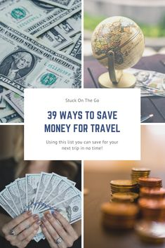 Are you looking for ways to save money for travel? Or just money saving tips in general? This post will give you 39 tips to save money for vacation. Packing List For Travel, Travelling Tips, Travel Tips, Travel Money, Travel Hacks, Road Trip On A Budget, Budget Travel, Ways To Save Money, Money Saving Tips