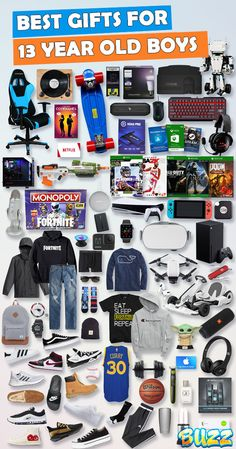 See 100+ teen boy gifts for 13 year old boys. Discover COOL and unique gifts for Birthdays, Christmas, and other occasions for your 13 year old teen boy. #birthdaygifts #christmasgifts Boyfriend Anniversary Gifts, Birthday Gifts For Boyfriend, Boyfriend Gifts, Valentine Gifts For Boys, Girlfriend Birthday, Cool Gifts For Teens, Gifts For Teen Boys, Stocking Stuffers For Teenagers, Christmas Gift 13 Year Old Boy