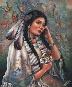 Butterfly Maiden by Gloria West kK