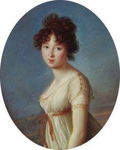 1802 Aniela Czartoryska, nee Radziwiłł by Élisabeth Louise Vigée-Lebrun (Muzeum Narodowe w Warszawie - Warszawa Poland) | Grand Ladies | gogm