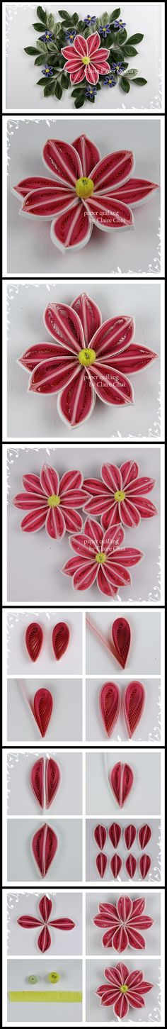 Paper art - Making flowers (Clematis)
