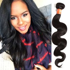 """100% Remy Human Hair Extension Weft Hair Brazilian 3Bundles 16""""  Weave US #WIGISS #HairExtension"""