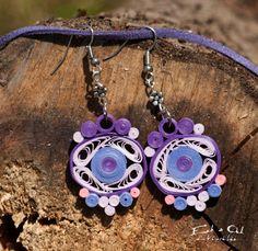 Papel color púrpura quilled ecológico collar y por EchOchCrafts