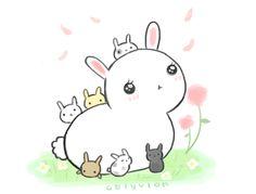 Mother Bunny and her children on a beautiful spring day o u o I haven't been able to draw lately because my week has been super duper hectic! But I'm free now! FREEEEEEEEEEEEEEEEEE