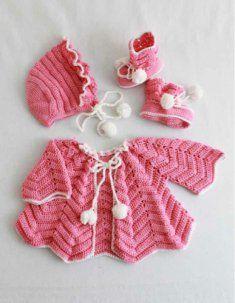 Crochet Pattern Ripple Layette [PA395] - $7.99 : Maggie Weldon