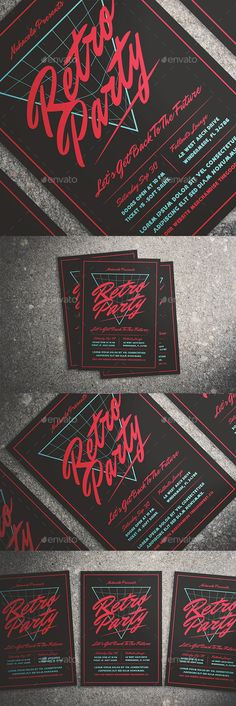 80's Music Flyer — Photoshop PSD #the good store #vintage flyer • Available here ➝ https://graphicriver.net/item/80s-music-flyer/20568014?ref=pxcr
