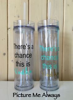 4ad82921524 There's A Chance This Is Vodka 16 oz Slim Tumbler #vodkacocktails Peach  Alcohol Drinks,