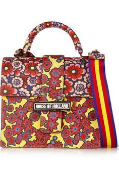 Lady H printed textured-leather shoulder bag #accessories #women #covetme #houseofholland #covetme #love #fashion #clothes #shoes #makeup