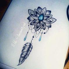 Un petit ornemental pour commencer la journée Disponible ; 18 € #draw #drawing #sketching #tattoosketch #tattoodesign #tattooflash #tattoodraw #ornementaltattoo #lotus #lacetattoo #lacelotus #lotustattoo #gemstone #feather
