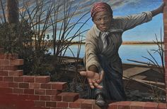 In our interview with artist Michael Rosato, we learn about the process behind 'Take My Hand,' the powerful Harriet Tubman museum mural. Harriet Tubman Underground Railroad, Photo Recreation, Museum Studies, The Dorchester, Painting Process, High Five, The Visitors, National Museum, Public Art
