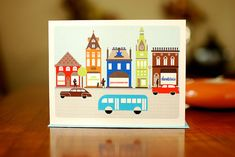 Mod French Village Set of 10 Blank Note Cards on by manvsgeorge, $16.50