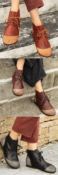 RoseG Femme Fait Main Espadrilles Plateforme Creeper Cuir Chaussures