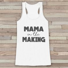 Pregnancy Announcement Tank - Simple Pregnancy Shirt - Mama in the Making Tank - White Tank Top - Pregnancy Announcement Shirt - New Mom