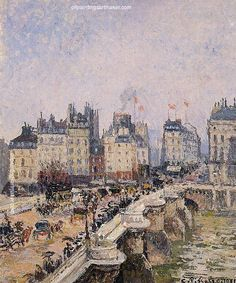 Camille Pissarro The Pont Neuf 2, 1901 painting free shipping, painting Authorized official website