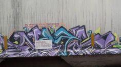 Graffiti Bombed Train Cars Street Art, Blue Line, Chicago  Vol. 4