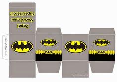 Caixas Personalizadas Superman para o Dia dos Pais e outras caixas - Convites Digitais Simples Batman Birthday, Batman Party, Superhero Party, Baby Batman, Batman Vs Superman, Pillow Box Template, Remember Day, Party Printables, Paper Dolls