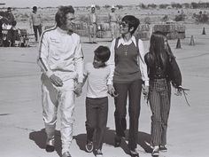 Steve McQueen and family   Back Set of Le Mans   1971   as Michael Delaney