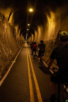 Taipei's Bike Tunnel. Wow, how could this work into the #swamprabbit trail? A little spooky, no?