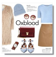 """Oxblood"" by bogira ❤ liked on Polyvore featuring Glamorous, Lipsy, Valentino, River Island, Yves Saint Laurent, Nixon, BDG, oxblood, fashiontrend and fashionset"