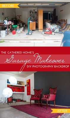 Garage Makeover Phase 2: DIY Photography Backdrop by Ace Blogger @thegatheredhome