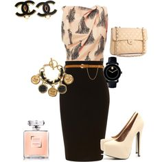 buisness peach, created by dnchinchilla on Polyvore