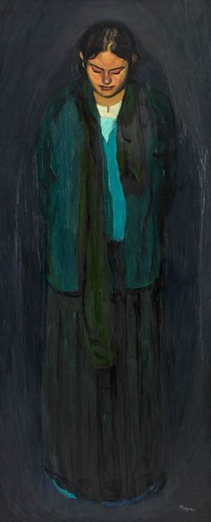 MAKRIS THANASSIS-Girl, oil on canvas, 150x90cm Greek Paintings, 10 Picture, Greek Art, Greek Life, Claude Monet, Oil On Canvas, Contemporary Art, Greece, Trust