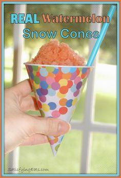 REAL Watermelon Snow Cones (Granita)