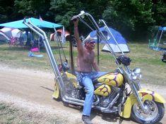 Ape hanger bike.  good way to get sunburned arm pits