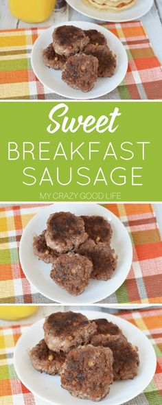 This sweet homemade sausage recipe is healthier than store bought sausage and tastes delicious! Healthy protein is the way to go, and I love that you can make this homemade sausage with ground chicken or turkey! It's an easy meal prep breakfast, and the p 21 Day Fix Breakfast, Sweet Breakfast, Sausage Breakfast, Breakfast Ideas, Breakfast Club, Gourmet Recipes, Low Carb Recipes, Dinner Recipes, Lunch Recipes