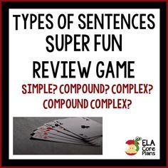 Simple, Compound, Complex Sentences Review Game