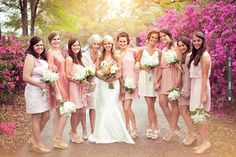 pink bridesmaid dresses | CHECK OUT MORE IDEAS AT WEDDINGPINS.NET | #bridesmaids