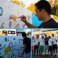 Nicolas Almagro también se sumo a la actividad de TECHO, para enfrentar la #pobreza hay #equipo