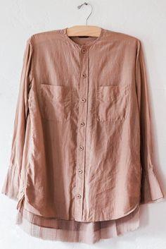 pas de calais beige nude blouse – Lost & Found
