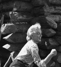 Marilyn Monroe on the set of River of No Return, 1954.