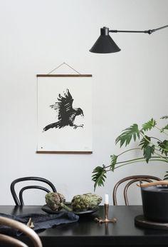 Raven poster by Teemu Järvi Illustrations.