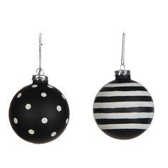 Deze zwart wit kerstballen zijn hip en passen perfect in het moderne kerstthema van dit jaar! Je vindt ze op www.kerstwereld.nl/kerstballen