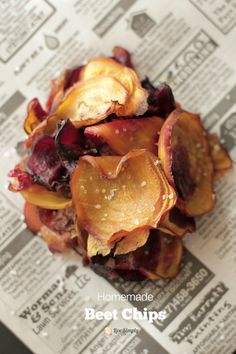 Homemade Beet Chips, Healthy Homemade Chips!