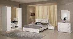 Dessins de conception d modele de chambre a coucher romantique : chambre à…