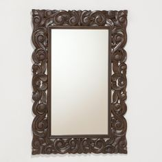 Tegan Carved Mirror | World Market